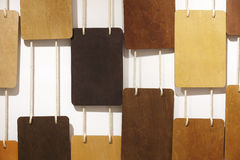 Different types of wood hanging on the wall Royalty Free Stock Photo