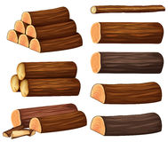 Different types of woods Stock Images
