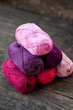 Different types of yarn Stock Images