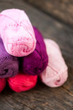 Different types of yarn Stock Photos