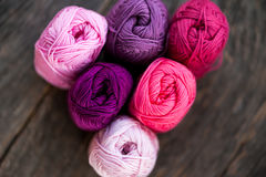 Different types of yarn Stock Photo