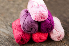 Different types of yarn Royalty Free Stock Photo