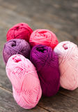 Different types of yarn Royalty Free Stock Photos