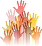 Different up hands Royalty Free Stock Images