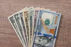 Different us dollar Royalty Free Stock Photos