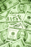 Different US paper bills Royalty Free Stock Photography
