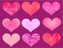 Different valentine hearts vector vector illustration