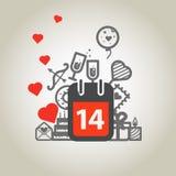 Different Valentines Day symbols Stock Photos
