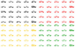 Different variants of the cars Stock Photos