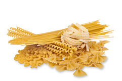 Different Variations of Dried Pasta Stock Images