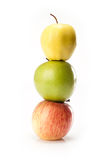 Different varieties of apples Stock Photography
