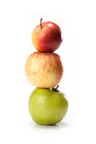 Different varieties of apples Royalty Free Stock Images