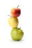 Different varieties of apples Stock Photos