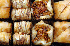 Different Varieties of Baklava Stock Photos
