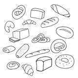 Different varieties of bread Royalty Free Stock Photo