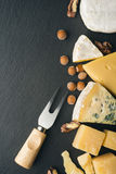 Different varieties of cheese. Royalty Free Stock Photography