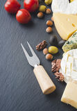 Different varieties of cheese. Royalty Free Stock Images