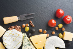 Different varieties of cheese. Royalty Free Stock Photo