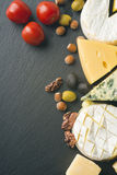 Different varieties of cheese Royalty Free Stock Photos