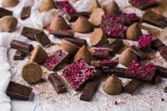 Different varieties of chocolate Stock Photo