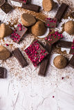 Different varieties of chocolate Royalty Free Stock Image