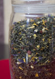 Different varieties elite green and black tea. Royalty Free Stock Photography