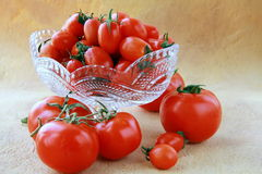 Different varieties of tomatoes Stock Photo