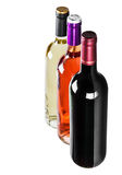 Different varieties of wine bottles Royalty Free Stock Image