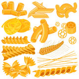 Different variety of Pasta Food Collection Royalty Free Stock Images