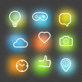 Different vector icons set Royalty Free Stock Photo