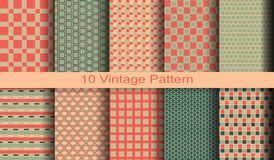10 different vector pattern. With paper texture. Abstract background. Vector background. Vintage pattern. Retro pattern stock illustration