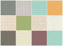 Different vector Seamless patterns Collection. Endless texture can be used for Wallpaper, Textile, pattern fills, web Royalty Free Stock Photo