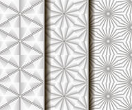 3 different vector seamless patterns. Stock Photos