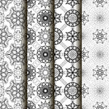 4 different vector seamless patterns. Royalty Free Stock Photos