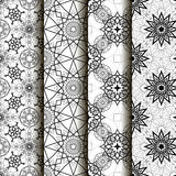 4 different vector seamless patterns. Royalty Free Stock Images