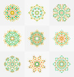 Different vector seamless patterns. Stock Photo