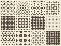 Different vector seamless patterns Stock Photo