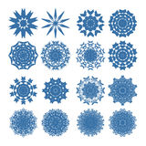 Different vector snowflakes Royalty Free Stock Photo