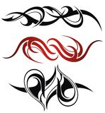 3 different vector tribal tattoo. Set of 3 different vector tribal tattoo Royalty Free Stock Image