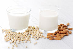 Different vegan milk Royalty Free Stock Photo