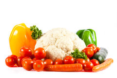 Different vegetables isolated on white background Stock Images