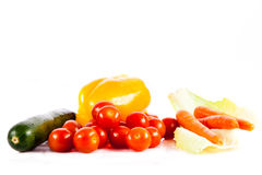 Different vegetables isolated on white background healthy food Royalty Free Stock Photos