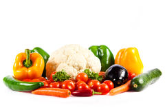 Different vegetables isolated on white background Stock Image