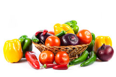 Different vegetables isolated on white background Stock Photo
