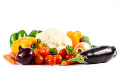Different vegetables isolated on white background Royalty Free Stock Photography