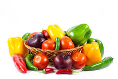 Different vegetables isolated on white background Royalty Free Stock Photo
