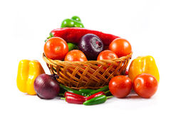 Different vegetables isolated on white background Stock Photography