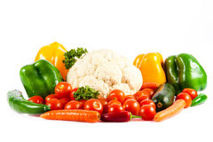 Different vegetables isolated on white background Royalty Free Stock Image