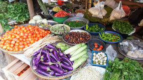 Different vegetables on a local burmese market Stock Photography