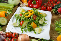 Different vegetables and salad Stock Photos